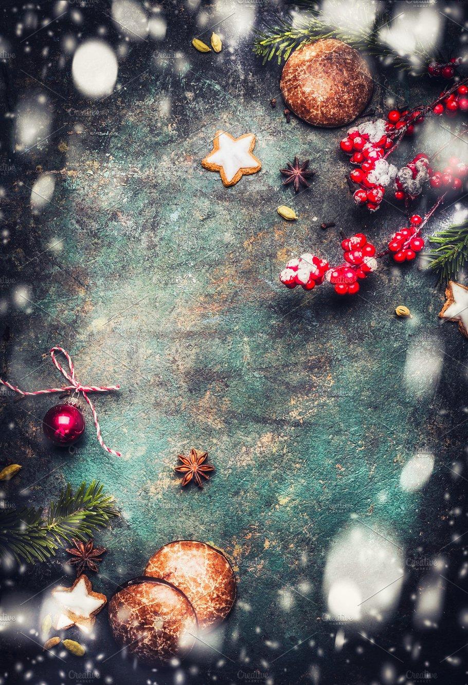 dark rustic christmas background holidays - Rustic Christmas Background