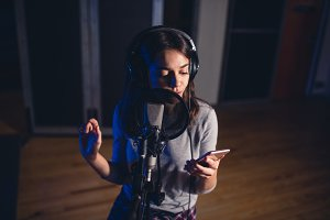 Singer recording song for her album