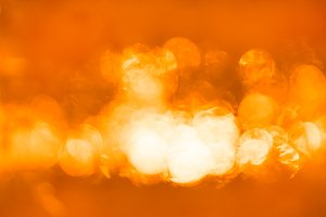 Horizontal orange bokeh background