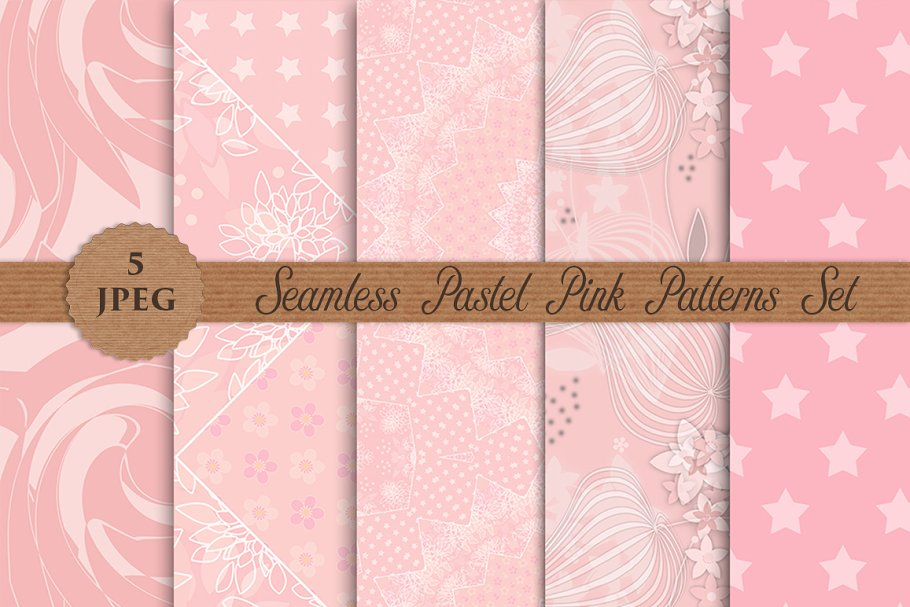 PINK PASTEL color abstract patterns