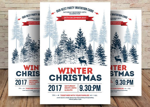 Minimal Christmas Winter Flyer