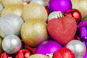 various Christmas balls