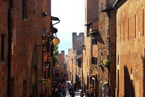 Street In Certaldo, Italy
