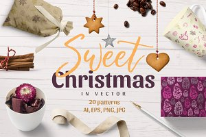 Sweet Christmas - vector patterns