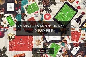 Christmas Mock-ups 10 PSD Pack