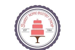 Sweet Home Pastry Shop Logo