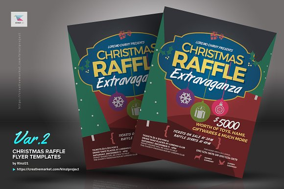 Christmas raffle flyer templates flyer templates creative market pronofoot35fo Image collections