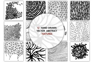 12 vector abstract textures