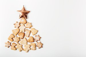 Christmas tree from cookies.