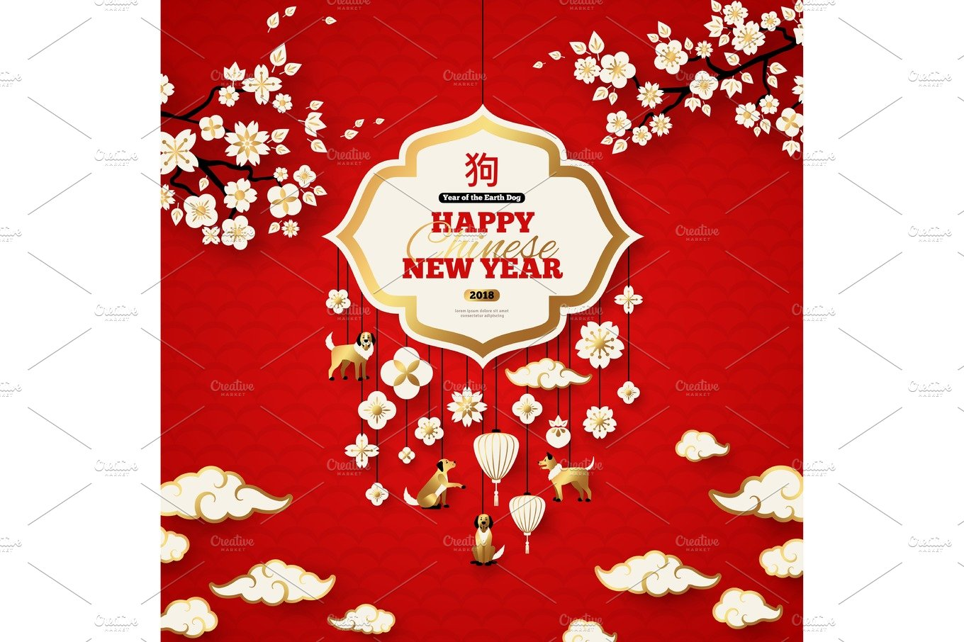 Chinese New Year Illustrations Creative Market