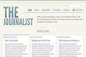 Journalist Blog Design - PSD