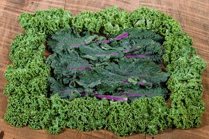 Red and curly kale