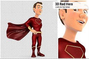 3D Red Hero Standing