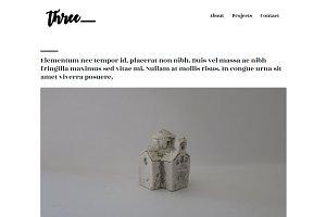 Three - Minimal HTML Theme + Freebie