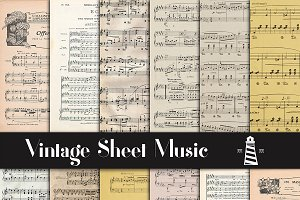 Vintage Sheet Music Paper
