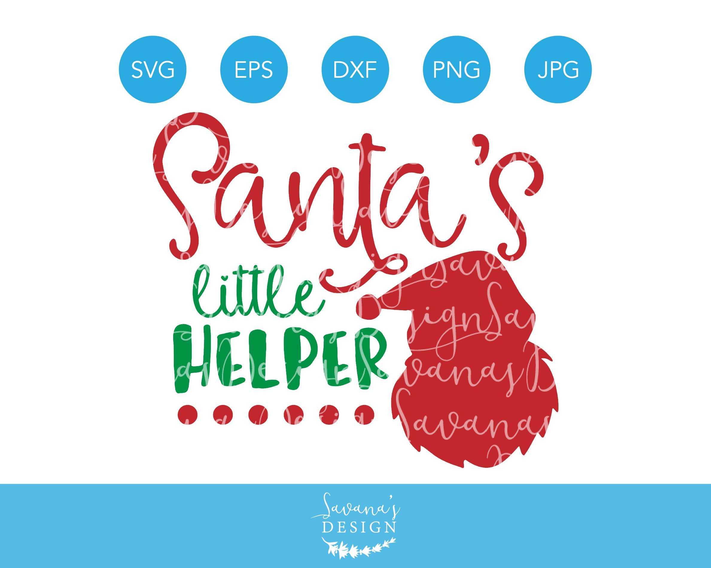 Santas Little Helper Christmas Svg Creative Daddy