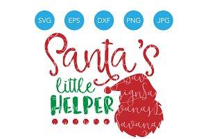 Santas Little Helper Christmas SVG