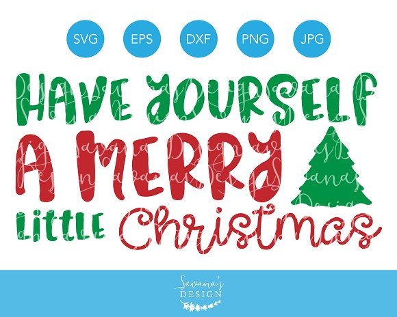 Merry Little Christmas SVG Cut File