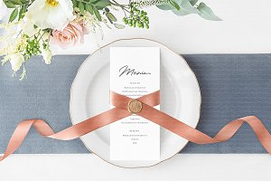 Wedding Menu or Program Mockup
