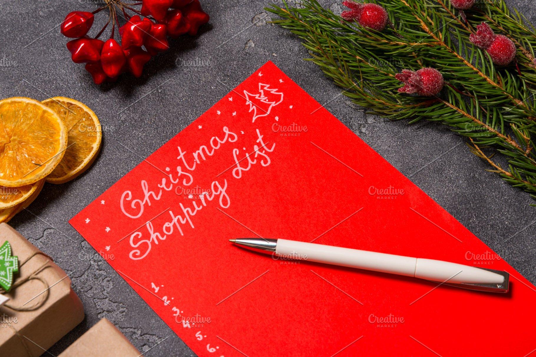 Christmas Shopping List Holiday Photos Creative Market