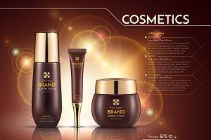 Vector realistic cosmetics mockup