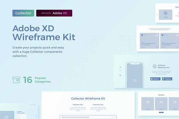 Collector Wireframe Web Kit ~ Web Elements ~ Creative Market