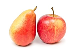 Ripe apple and pear