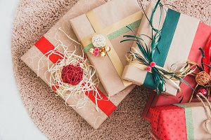 Gift boxes for Christmas celebration