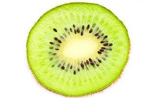 Slice of ripe kiwi fruit