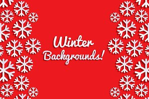 Set of Backgrounds with Snowflakes