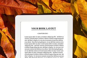 E-Book Reader Mock-Up, (Vertical)