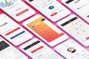 VeloBike - Rental App UI Concept