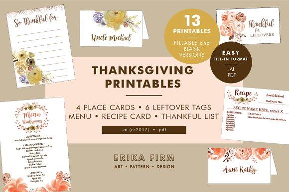 Thanksgiving Printables Bundle