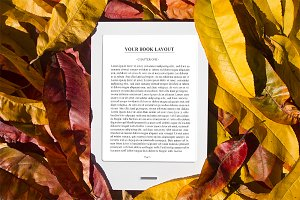 E-Book Reader Mock-Up, Autumn