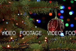 magically decorated christmas tree with balls ribbons and red garlands on - How To Decorate A Christmas Tree With Ribbon Video