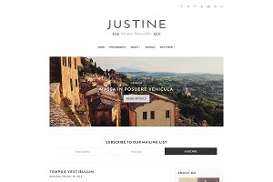 Responsive Blogger Theme, Justine