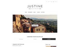 Responsive Blogger Theme, Justine