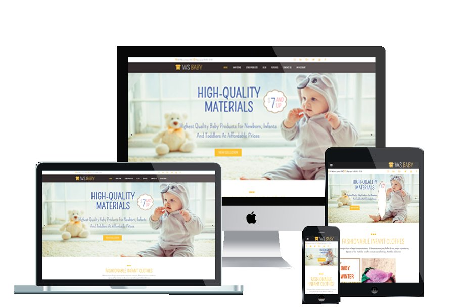 99a25a6c5 WS Baby - Baby Store WordPress Theme