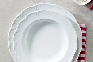 empty plate with Italian style