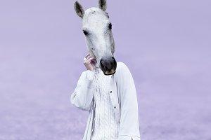 Horse Lady.  Contemporary Art