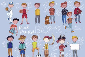 Boys hand painted