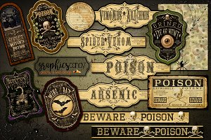 Halloween Labels - Apothecary Labels