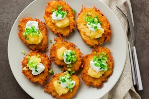 Potato pancakes, latkes or boxty