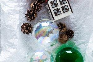 Christmas gift and Christmas balls