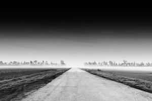 Dramatic road into horizon background