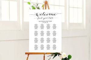 Wedding Seating Chart Sign Template
