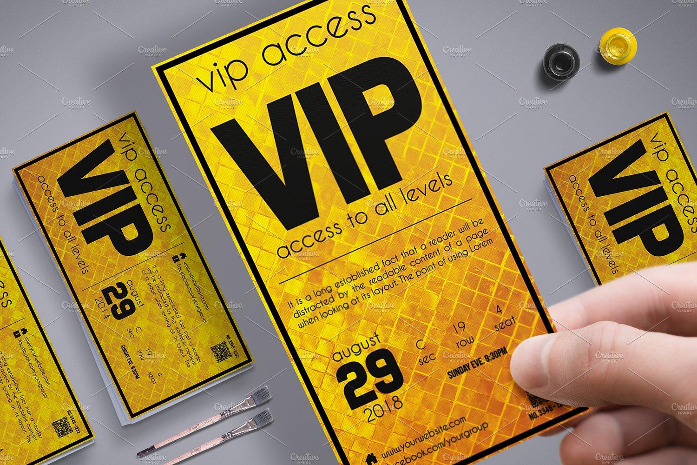 Golden Style VIP Pass Card ~ Card Templates ~ Creative Market
