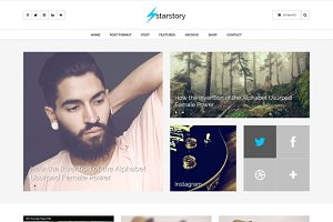 StarStory - Blog + Shop PSD Template