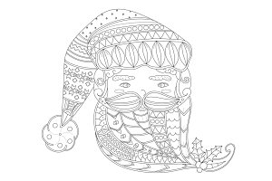 Santa Claus' face vector