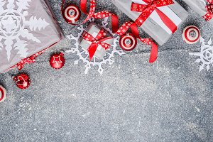 Christmas handmade gifts with ribbon